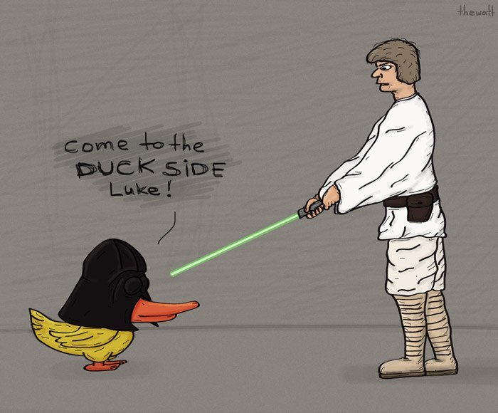 come to the duck side luke