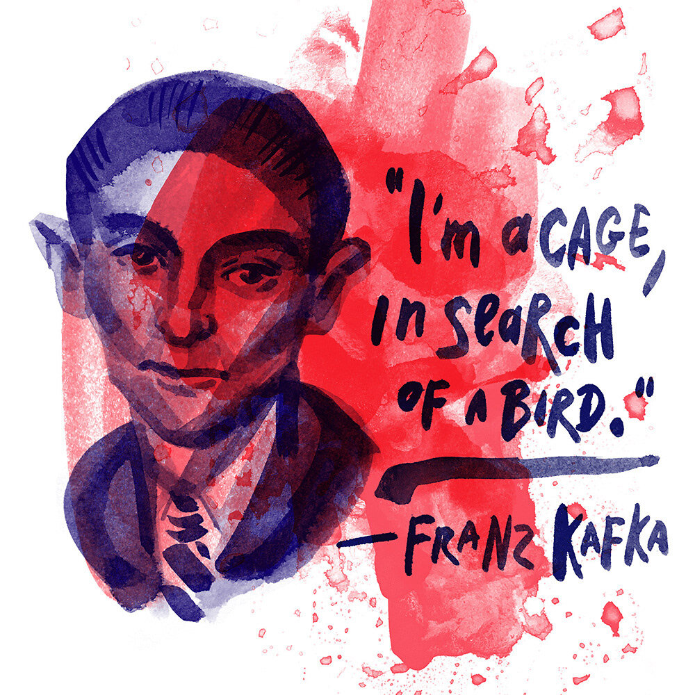 Franz Kafka: I am a cage, in search of a bird